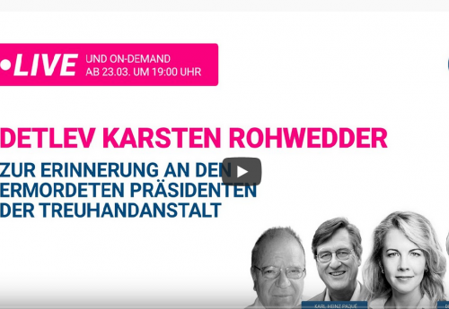Detlev Karsten Rohwedder - Zur Erinnerung an den ermordeten Präsidenten der Treuhandanstalt
