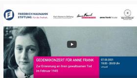 Gendenkkonzert für Anne Frank